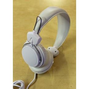 FoneMe Orbz Over-Ear Wired Headphones with mic - White