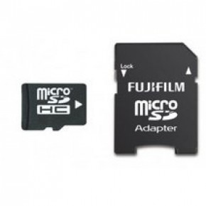Fujifilm 32GB Micro SDHC Class 10 Memory Card with Adapter