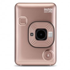 Fujifilm Instax Mini LiPlay Hybrid Instant Camera - Blush Gold