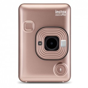 Fujifilm Instax Mini LiPlay Hybrid Instant Camera - Blush Gold