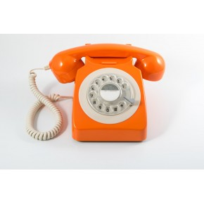 GPO 746 Classic Rotary Dial Home Telephone - Orange