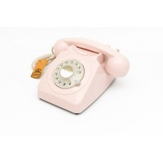 GPO 746 Classic Rotary Dial Home Telephone - Carnation Pink