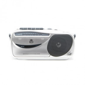 GPO 9401 AM/FM FM Radio and Cassette Player & Recorder - Silver