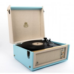 GPO Bermuda Vinyl Player & Scan - Blue