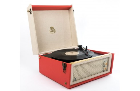 GPO Bermuda Vinyl Player & Scan - Red