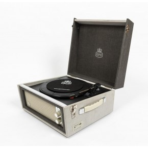 GPO Bermuda Vinyl Player & Scan - Grey