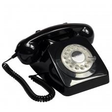 GPO 746 Classic Rotary Dial Home Telephone - Black