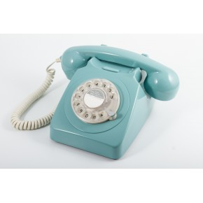 GPO 746 Classic Rotary Dial Home Telephone - Blue