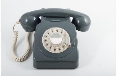 GPO 746 Classic Rotary Dial Home Telephone - Grey