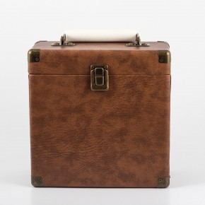 GPO 7 Inch Vinyl Case - Brown