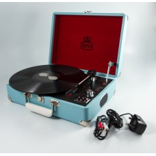 GPO Attache Case Vinyl Player & Scanner - Blue