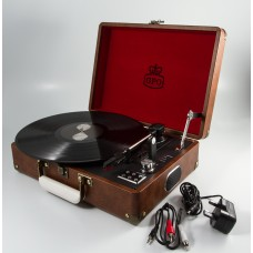 GPO Attache Case Vinyl Player & Scanner - Brown