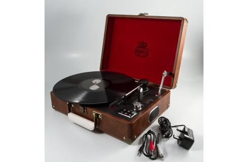 GPO Attache Case Vinyl Player & Scanner - Brown