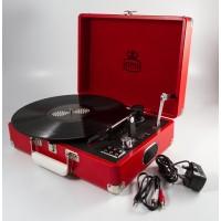 GPO Attache Case Vinyl Player & Scanner - Red