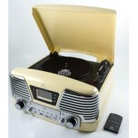 GPO Memphis Vinyl, CD, MP3 & Radio Music Centre - Cream