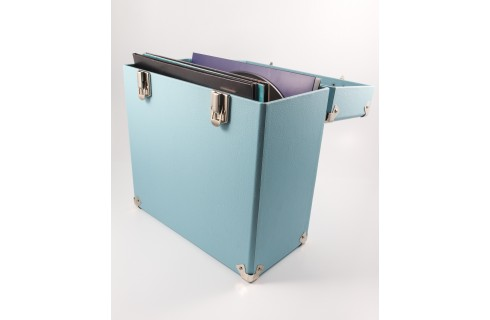 GPO Vinyl Record Case -Blue