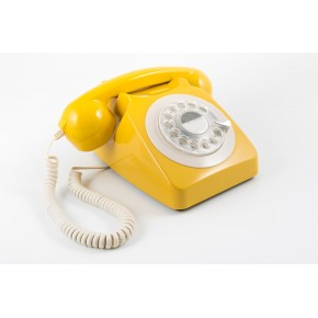 GPO 746 Classic Rotary Dial Home Telephone - Mustard