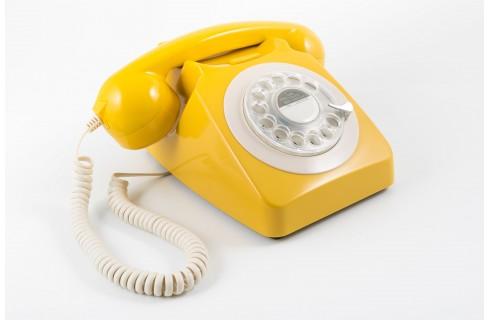 GPO 746 Classic Rotary Dial Home Telephone - Mustard