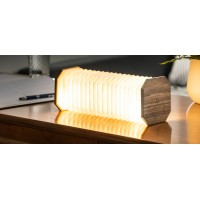 Gingko Smart Accordion Lamp - Walnut