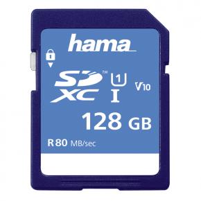 Hama SDXC 128GB Class 10 UHS-I 80MB/s Memory Card