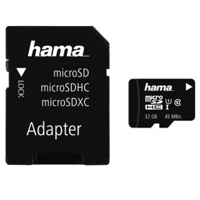 Hama 32GB Micro SDHC Class 10 with Adapter