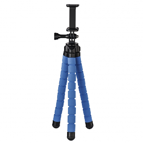 "Hama ""Flex"" Tripod for Smartphone and GoPro, 26 cm - Blue"