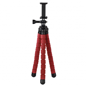 "Hama ""Flex"" Tripod for Smartphone and Action Cameras, 26 cm - Red"