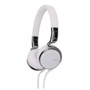 JVC esnsy on-ear headphones with remote and mic - White