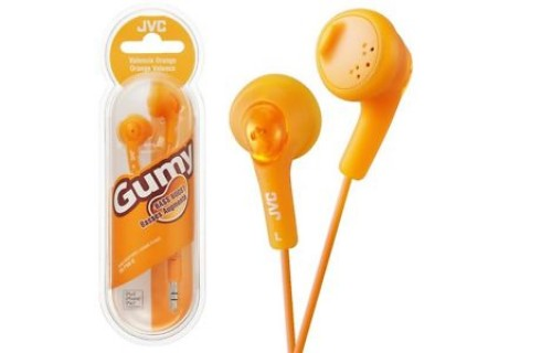 "JVC F160 ""Gumy"" Headphones - Orange"