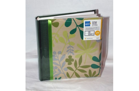 "Kenro Cottage Glories 200 6x4""/10x15cm Memo Album - Green"
