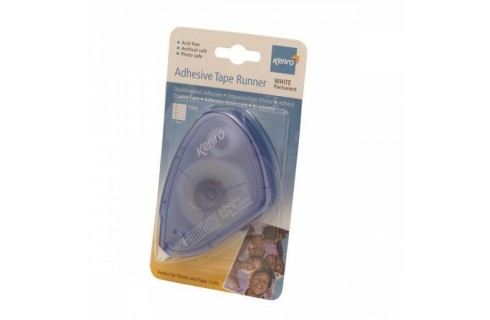 Kenro Adhesive Permanent Tape Runner - White