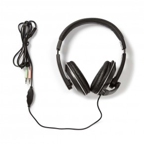 Nedis Over-Ear PC Headset  with Pull Down Mic & In-Line Volume Control