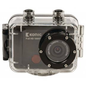 Konig Full 1080p HD 30Metre Waterproof Action Camera with Screen