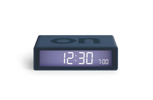 Lexon Flip2 Alarm Clock - Dark Blue