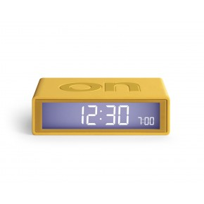 Lexon Flip 2 LCD Alarm Clock - Yellow