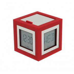 Lexon Cubissimo Alarm Clock - Orange