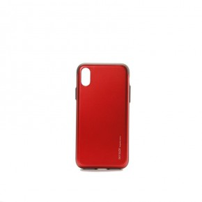 Mercury Goospery Sky Slide Bumper Case with Card Holder for iPhone X - Red