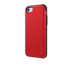 Mercury Goospery Sky Slide Bumper Case with Card Holder for iPhone 7/8 - Red