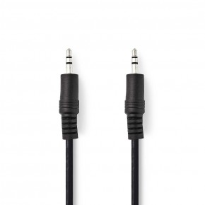 Nedis 3.5mm to 3.5mm 3 Metre Stereo Audio Cable - Black