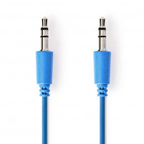Nedis 3.5mm to 3.5mm 1 Metre Stereo Audio Cable - Blue