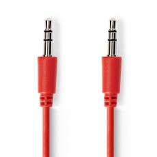 Nedis 3.5mm to 3.5mm 1 Metre Stereo Audio Cable - Red