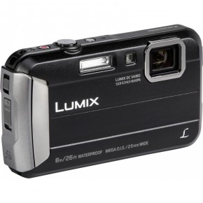 Panasonic Lumix DMC-FT30 Tough Waterproof Digital Camera, 16GB Card & Case Bundle - Black
