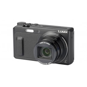 Panasonic Lumix Digital Camera DMC-TZ57, 16GB Card & Case - Black