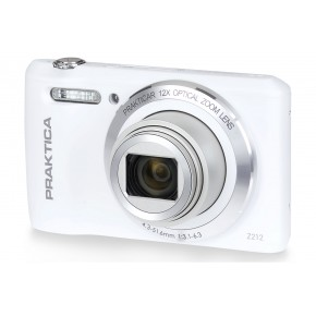 Praktica Luxmedia Z212 Digital Camera, 16gb Card & Case Bundle - White