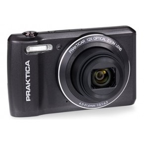 Praktica Luxmedia Z212 Digital Camera, 16gb Card & Case Bundle - Graphite