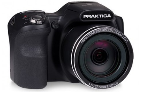 Praktica Luxmedia Z35 Bridge Digital Camera, 16gb Card & Case Bundle - Black