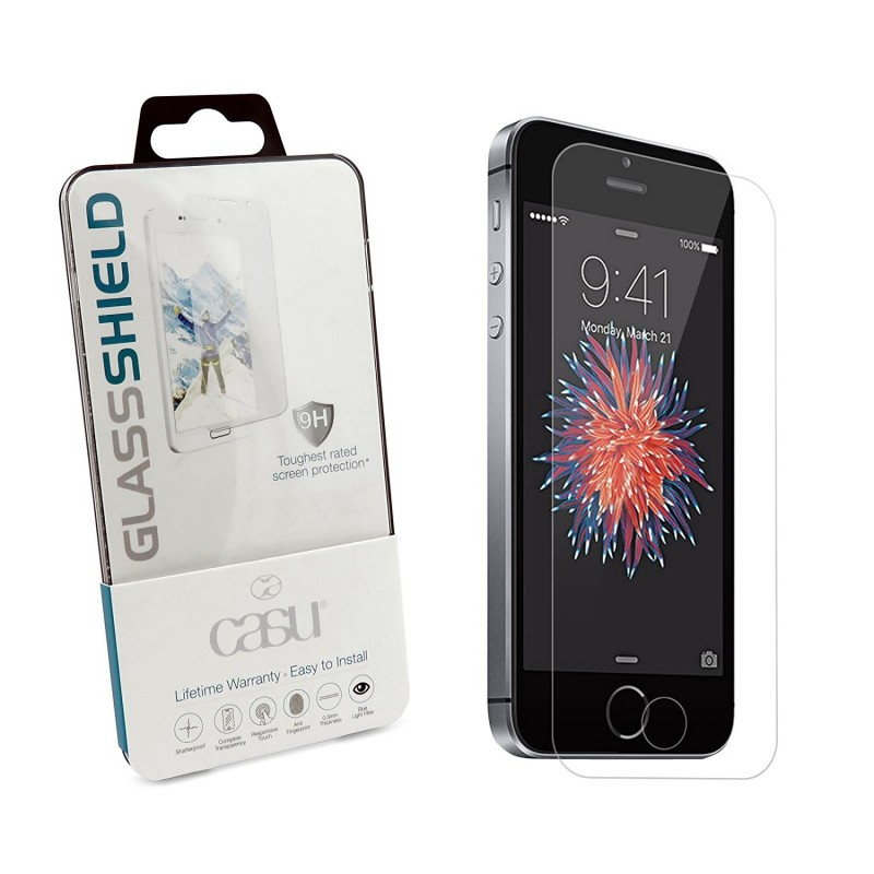 on sale 799d3 39881 Casu Glass Shield 9H Toughest Rated Screen Protector - iPhone 5SE