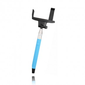 iCANDY Extendable Selfie Pole with Bluetooth Shutter - Blue