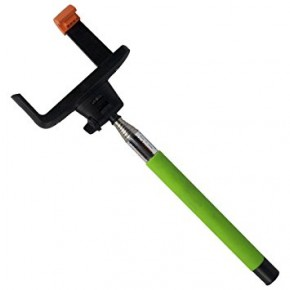 iCANDY Extendable Selfie Pole with Bluetooth Shutter - Green