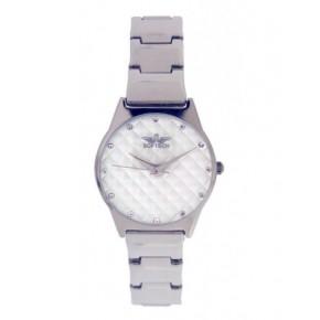 Softech London B482 Chrome & White Watch